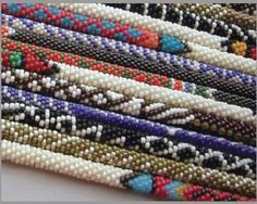 Beaded Necklace Patterns, Bead Crochet Patterns, Macrame, African, Stripes, Tapestry, Jewels, Beads, Beadwork