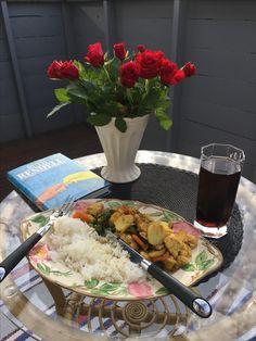 Middag på verandaen, bare meg selv og Ruth Rendell ... 📖🕵🏻♀️
