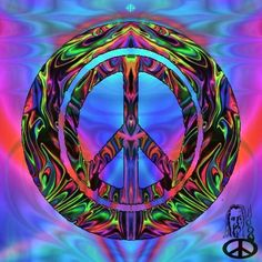 Greetings, HPFs. Wishing you peace, love and all things groovy for the coming week. ☮❤~Mary    Art by our friend, Larry Mellot.
