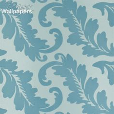 Ardassa is an elegant, and stylish, large-leafed, flocked damask wallpaper. It features a repeat pattern on a specked, shaded background.