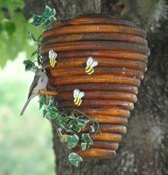 Bee hive bird's house.