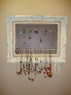 wall mounted jewelry organizer Google Search Get organized