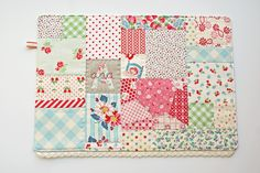 Placemat by Nana Company  Some great Japanese fabrics being used.