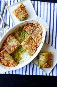 Skinny Zucchini Casserole. This is skinny but absolutely not a boring diet food. Even zucchini haters will love this tasty casserole! | giverecipe.com