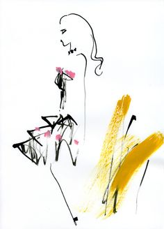 miyukiohashi:    Viktor & Rolf      One of my favorite fashion illustrations by Miyuki Ohashi