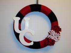 UC Bearcats Yarn Wreath