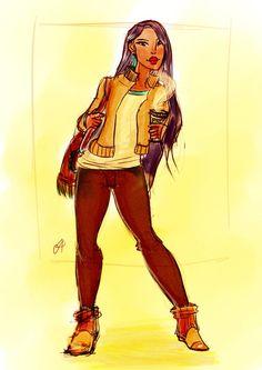 Modern Pocahontas by koneko19