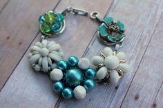 @belmonili.com Hey, I found this really awesome Etsy listing at https://www.etsy.com/listing/209182659/teal-blue-flower-bracelet-granny-chic