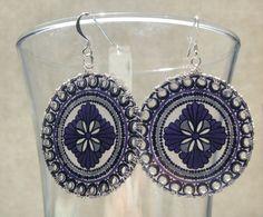 Purple Window Earrings by JoelleLove on Etsy, $12.50