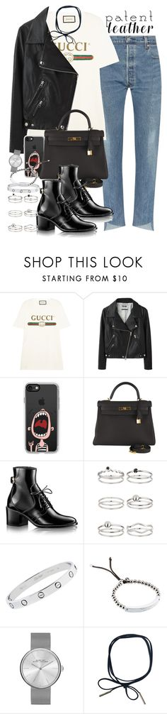 """""""Sin título #4259"""" by hellomissapple on Polyvore featuring moda, Gucci, Acne Studios, Casetify, Hermès, Miss Selfridge, Cartier, Michael Kors y Marc by Marc Jacobs"""