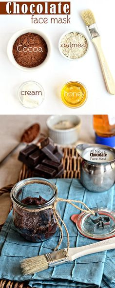 1/4 cup honey 1/3 cup cocoa 3 tablespoons oatmeal powder 2 tablespoons sour cream (guess yoghurt would be fine too)