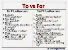 To vs for