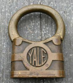 Large Antique Padlocks | Rare old antique large Yale bullring padlock lock NR Completed
