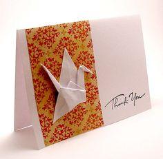 Origami Crane Card by kittykatkards, via Flickr