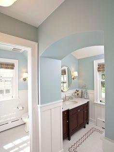 flat panel wainscoting bathroom - Google Search