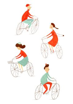 Bicycles print by Ekaterina Trukhan (via Creature Comforts)