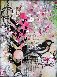 Looking for the Summer mixed media card by Sanda Reynolds www.artfulflight.com