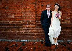 Bride and groom real wedding Real Weddings, Groom, Photographs, Bride, Wedding Dresses, Image, Bridal Dresses, Bridal, Alon Livne Wedding Dresses