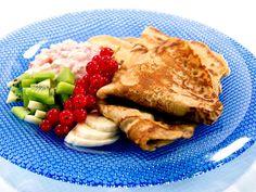 Grove pannekaker med havregryn: Her får du oppskrift og video av grov pannekaker med havregryn. Cottage Cheese, Steak, Healthy Lifestyle, Pancakes, Healthy Recipes, Healthy Foods, Egg, Cooking, Breakfast