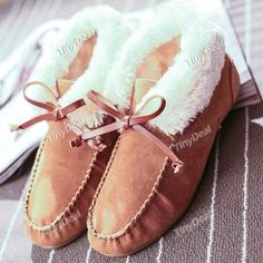 Winter Casual Fleece Bowknot Boots Warmer Snow Shoes DSH-361903