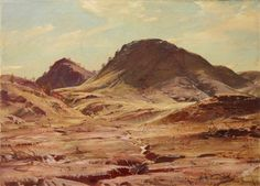 The hill of the creeping shadow, Sir Hans Heysen, on show at the Art Gallery of NSW. No Australian artist did watercolours quite like this man - superb!
