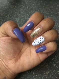 Purple with Dots