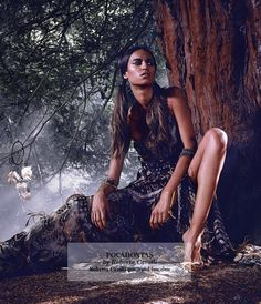 Pocahontas by Roberto Cavalli, at Harrods November editorial. Disney princesses by fashion designers.