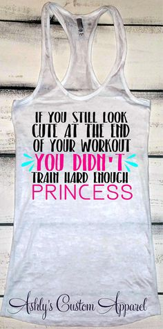 Training Tank, Funny Workout Tank, Womens Fitness, Inspirational Tanks, Gym Motivation, Womens Work Out Shirt, Gym Clothes, Funny Gifts by AshleysCustomApparel