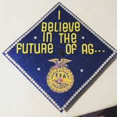 My WVU Grad Cap! #AgricultureEducation #AgEd #ForeverAMountaineer