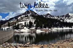 Hiking the Twin Lakes, Brighton area, Big Cottonwood Canyon, Utah! Still snow on the mountains in June!