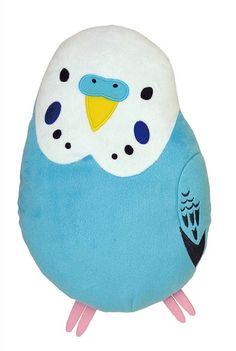 Kotri Collection - Budgerigar / Cockatiel /  White Sparrow Cushion Japan! #Sekiguchi