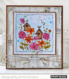Penny Black's Lovely Layers Ladies feature our stamps, stencils, and dies: Click through for videos, supply lists, and instructions Penny Black Cards, Penny Black Stamps, Happy Birthday Cards, Homemade Cards, Scrapbook Paper, Cardmaking, Paper Crafts, Hand Painted, Painted Flowers