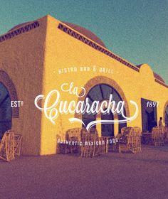"""La Cucaracha - Vintage Mexican  Restaurant Label/Badge"" Buy from - http://graphicriver.net/item/premium-quality-8-vintage-labels-logo-badges-2/4782691?WT.ac=portfolio_1=portfolio_author=SAOStudio"