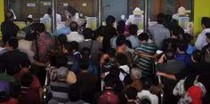 Loket Stasiun Depok Baru Terjadi Penumpukan Calon Penumpang