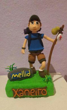 Para mis amigos del Xaneiro, artesaneado con mucho cariño, nos vemos pronto por Melide!