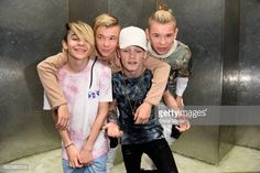 UK pop duo and teen stars Bars & Melody (Leondre Devries, Charlie Lenehan) and norwegian twin brothers pop duo and teen stars Marcus & Martinus Photo Session on June 2017 in Berlin, Germany. Let You Go, Bars And Melody, Twin Brothers, Album, Stock Pictures, Royalty Free Photos, New Music, Photo Sessions