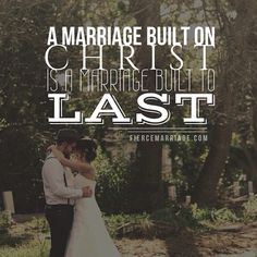 Christ is the only foundation worth building your life & marriage upon. #marriage #love