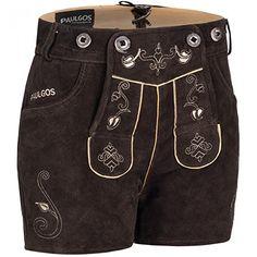 #Wiesn #Oktoberfest #PAULGOS #Damen #Trachten #Lederhose #  #Träger #Echtes #Leder #Sexy #Hotpants #Dunkelbraun #H1, #Größe #Lederhose:34 PAULGOS Damen Trachten Lederhose   Träger Echtes Leder Sexy Hotpants Dunkelbraun H1, Größe Lederhose:34, , - Marke: PAULGOS, - Farbe: Dunkelbraun, - Trachten Lederhose Kurz mit passenden Trägern, - Schöne und aufwendige Trachten Stickerei, - Hoher Tragekomfort durch Innenfutter aus Polyestergewebe