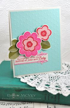 New Baby Card by Dawn McVey for Papertrey Ink (May 2013)