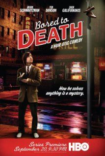 Bored to Death (TV Series)  Jason Schwartzman, Ted Danson, Zach Galifianakis.  Great little Comedy series. Jason pretends to be a Detective, and presents himself as such to clients...to help them.