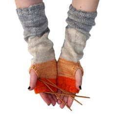 Whit's Knits Colorblock Hand Warmers