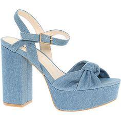 Blue Denim Chunky Sandals
