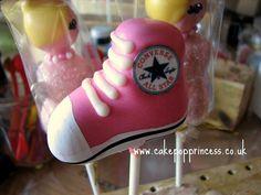 All Star converse cake pops