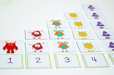 These 4 free printable silly monster activities for counting to 10 are such a fun way to practice counting and number recognition!