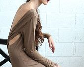 August Sale, Open Back Women Dress - Brown ( would be beautiful on you!