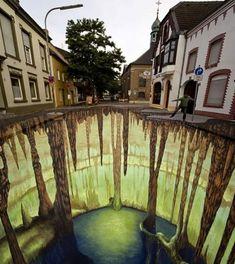 3D street art by Edgar Muller -Mysterious Caves  2