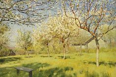 Apple Trees in Blossom - Levitan