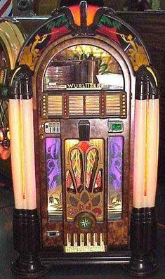 _Epilogue for the Juke Box_ Radios, Jukebox, Art Nouveau, Music Machine, Arcade Machine, Rock And Roll, Vintage Music, Vintage Box, Vintage Stuff