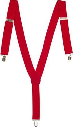 Red Suspenders class up a casual outfit and show school spirit at the same time!