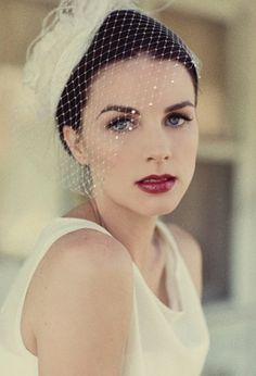 Makeup off white dress.
